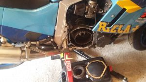 More work on the GSXR1100 clutch 1