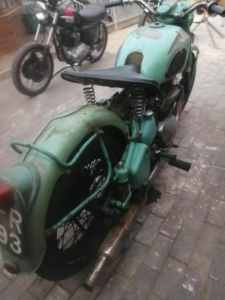 Ariel Square Four Barn Find Motorcycle